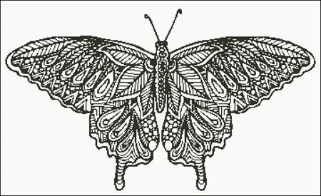click here to view larger image of Zentangle Butterfly Silhouette (chart)