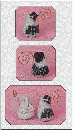 click here to view larger image of Romeo the Groom Mouse Ornament (counted cross stitch kit)