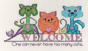 click here to view larger image of Cats - Never Too Many (chart)