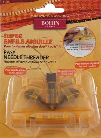 click here to view larger image of Bohin Easy Needle Threader SA 1 to 11 (accessory)