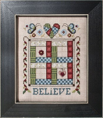 click here to view larger image of Quilted With Love 3 - Believe (chart)