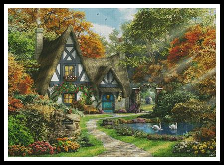 click here to view larger image of Autumn Cottage, The - Large (chart)