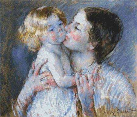 click here to view larger image of Kiss For Baby Anne 2, A  (Mary Cassatt) (chart)