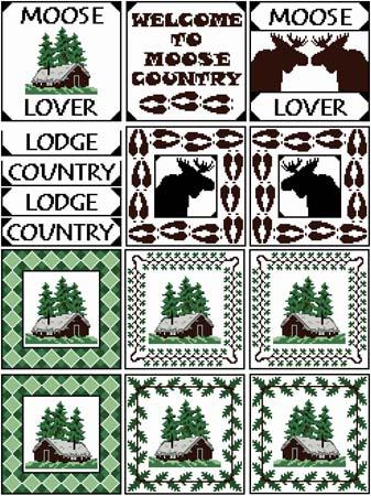 click here to view larger image of Needle Block Wonders 02 - Moose Country (chart)