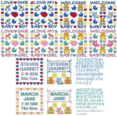 click here to view larger image of Needle Block Wonders 10 - Baby (chart)