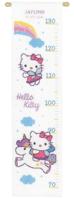 click here to view larger image of Hello Kitty and Rainbow Height Chart (counted cross stitch kit)