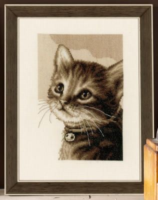 Kitten - click here for more details about counted cross stitch kit