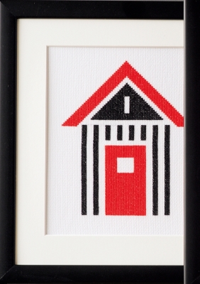 click here to view larger image of Beach Shed (counted cross stitch kit)