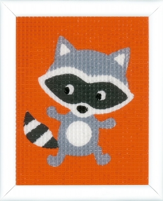 click here to view larger image of Little Raccoon (needlepoint)