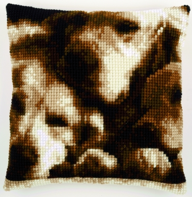 click here to view larger image of Dog Sleeping Cushion (needlepoint)