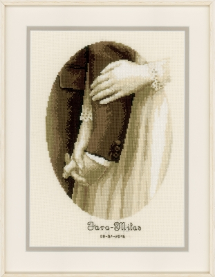 click here to view larger image of Newlyweds (counted cross stitch kit)