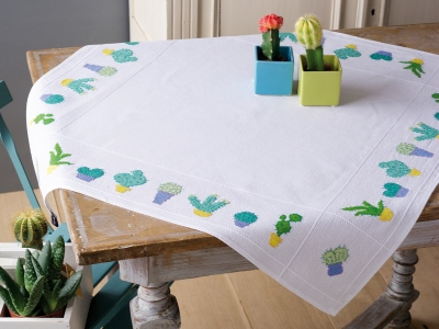 click here to view larger image of Cactuses Tablecloth (counted cross stitch kit)