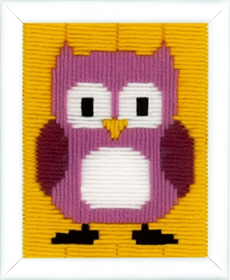 click here to view larger image of Fuchsia Owl (counted cross stitch kit)