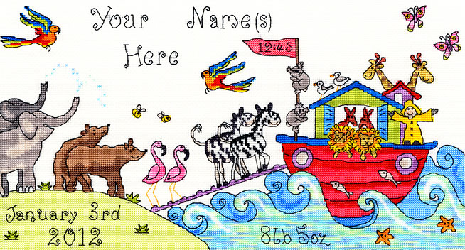 click here to view larger image of All Creatures (counted cross stitch kit)