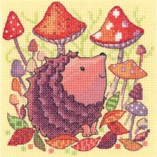 click here to view larger image of Hedgehog - Woodland Creatures (27ct) (counted cross stitch kit)