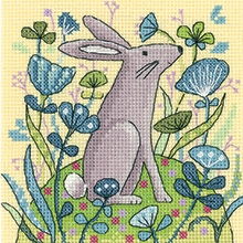 click here to view larger image of Hare - Woodland Creatures (Aida) (counted cross stitch kit)