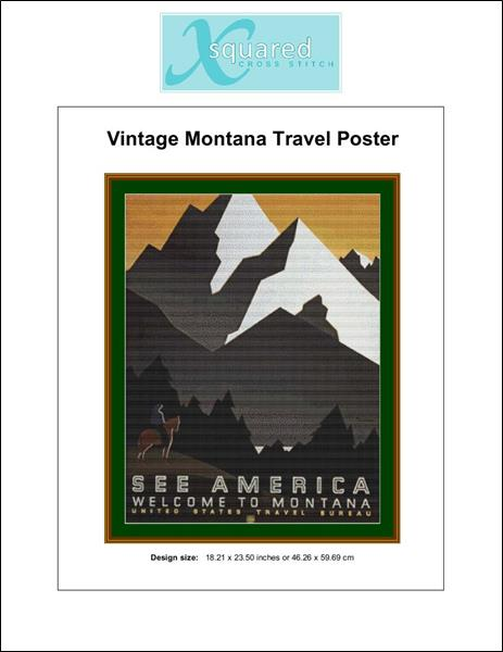 click here to view larger image of Vintage Montana Travel Poster (chart)