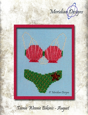 click here to view larger image of Teenie Weenie Bikinis - August (chart with charms/buttons)