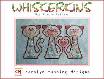 click here to view larger image of Whiskerkins Trio - May Flower Felines (chart)