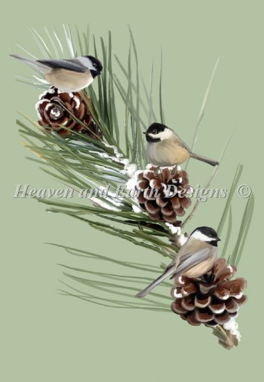 click here to view larger image of Chickadees Firbranch - NO Background (chart)