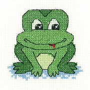 click here to view larger image of Frog - Juniors (counted cross stitch kit)