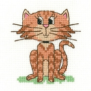 click here to view larger image of Cat - Juniors (counted cross stitch kit)