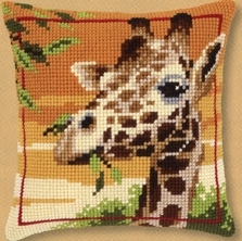 click here to view larger image of Giraffe Pillow (counted cross stitch kit)