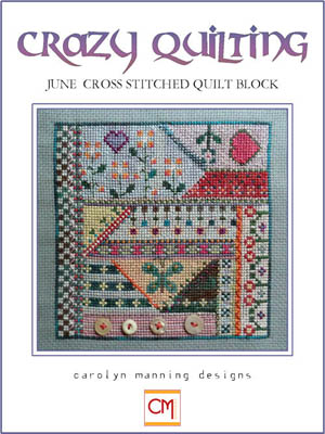 click here to view larger image of Crazy Quilting - June Block (chart)