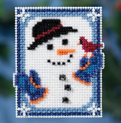 click here to view larger image of Invisible Snowman (counted cross stitch kit)