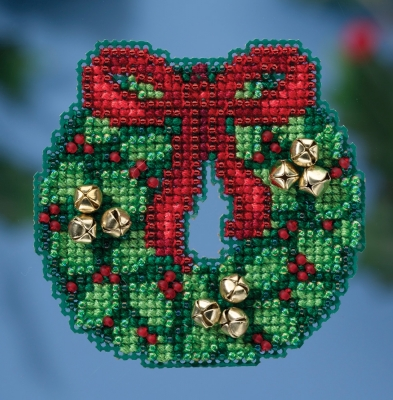 click here to view larger image of Jingle Bell Wreath (counted cross stitch kit)