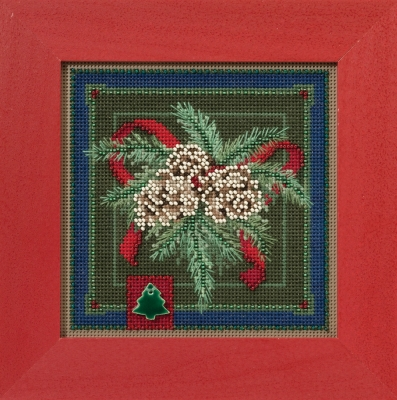 click here to view larger image of Festive Pine (counted cross stitch kit)