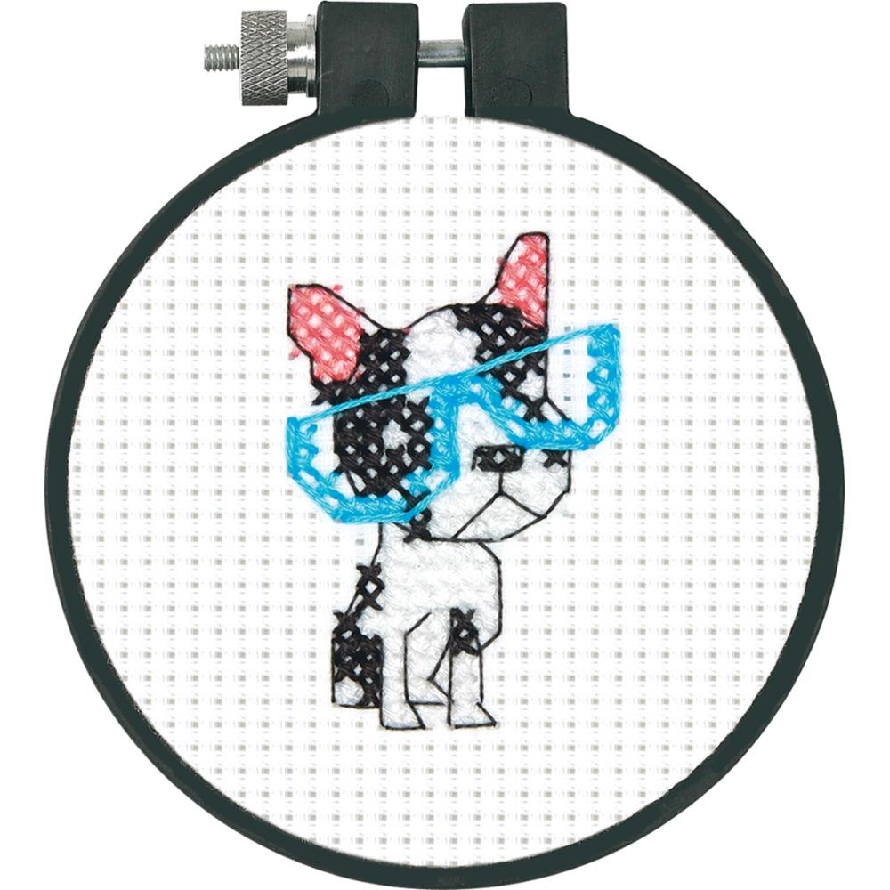 click here to view larger image of Smart Dog - Learn A Craft (counted cross stitch kit)