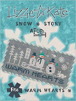 click here to view larger image of Warm Hearts - Snow Story Flip-It F156 (chart with charms/buttons)