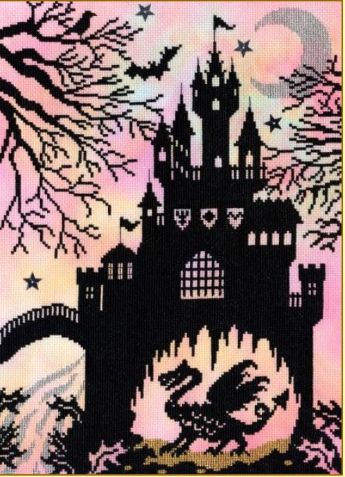 click here to view larger image of Dragon Castle (counted cross stitch kit)