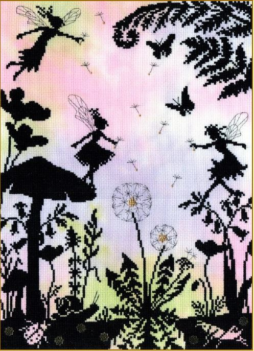click here to view larger image of Fairy Glade (counted cross stitch kit)