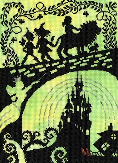 click here to view larger image of Wizard of Oz (counted cross stitch kit)