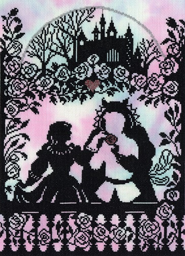 click here to view larger image of Beauty and the Beast (counted cross stitch kit)