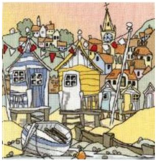 click here to view larger image of Beach Huts III (Aida) (counted cross stitch kit)
