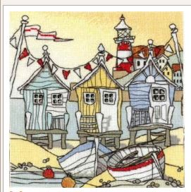 click here to view larger image of Beach Huts II (Aida) (counted cross stitch kit)