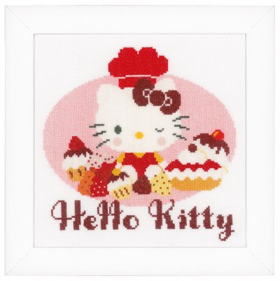 click here to view larger image of Hello Kitty And Pie Bakery (counted cross stitch kit)