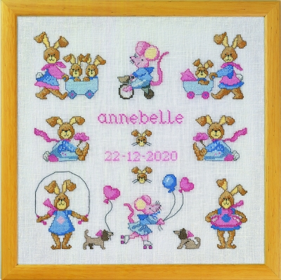 click here to view larger image of Anne Belle (counted cross stitch kit)