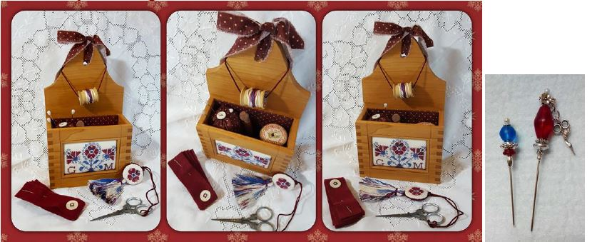click here to view larger image of Old Glory Sewing Box (counted cross stitch kit)