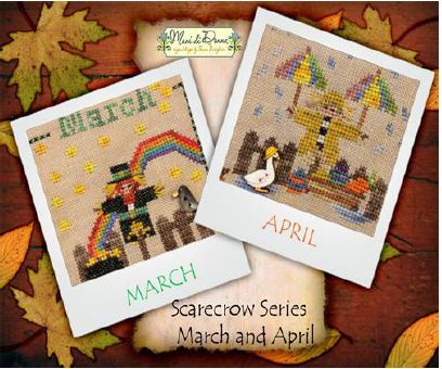 click here to view larger image of Year With The Scarecrows, A - March and April (chart with charms/buttons)