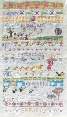 click here to view larger image of Spring Band Sampler (chart)