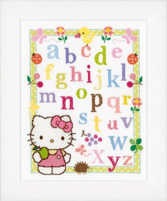 click here to view larger image of Hello Kitty Alphabet (counted cross stitch kit)