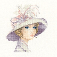 click here to view larger image of Amelia - Elegance Miniatures (Aida) (counted cross stitch kit)