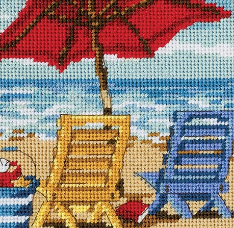 click here to view larger image of Beach Chair Duo (needlepoint)