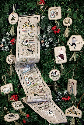 click here to view larger image of Twelve Days Sampler and Ornaments (chart)