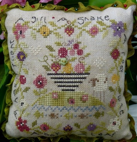 click here to view larger image of Eden's Lament Pin Cushion (counted cross stitch kit)