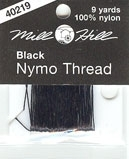 click here to view larger image of Nymo Thread - Black (9 yards) (fiber)